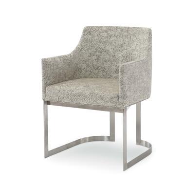 Hilton Head Furniture Store -  Copenhagen Stainless Arm Chair 1