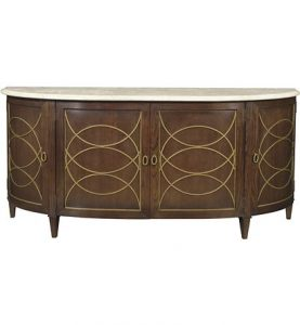 Hilton Head Furniture Store - Duchamp Demilune Sideboard With Satillia Marble Top