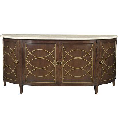 Hilton Head Furniture Store -  Duchamp Demilune Sideboard With Satillia Marble Top