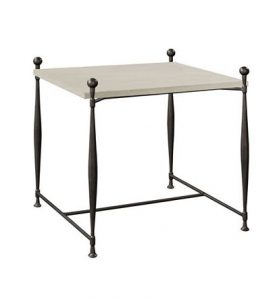 Hilton Head Furniture - Ionia Side Table With Square Stone Top
