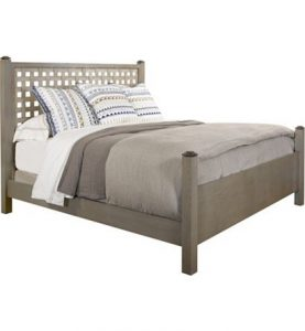 Hilton Head Furniture - Jess Queen Bed (Woven   Burlwood)