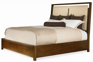 Hilton Head Furniture Store - Jinshi Platform Bed With Uph Headboard   King Size