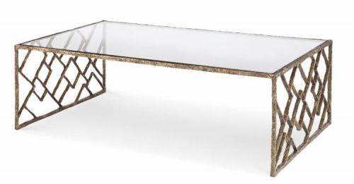 Hilton Head Furniture Store -  Lattice Bronze Cocktail Table