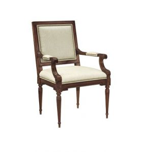 Hilton Head Furniture - Louis XVI Square Back Arm Chair