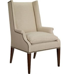Hilton Head Furniture - Martin Host Chair With Loose Cushion And Arms   Ash