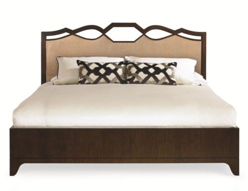 Hilton Head Furniture -  Ogee Bed With Uph Headboard   King Size
