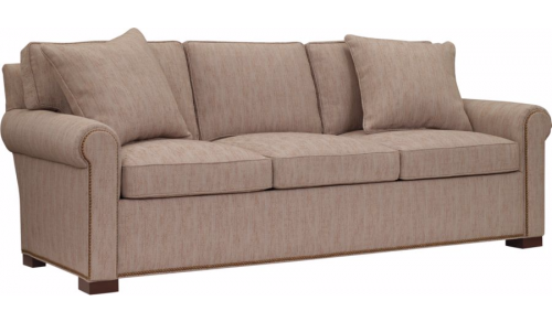 Hilton Head Furniture Store -  Silhouettes Raised Panel Lawson Arm Sleep Sofa