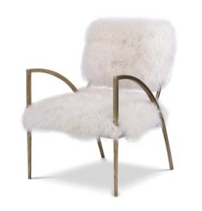 Hilton Head Furniture - Sylvie Hair On Hide Metal Chair