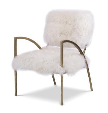 Hilton Head Furniture Store -  Sylvie Hair On Hide Metal Chair 1
