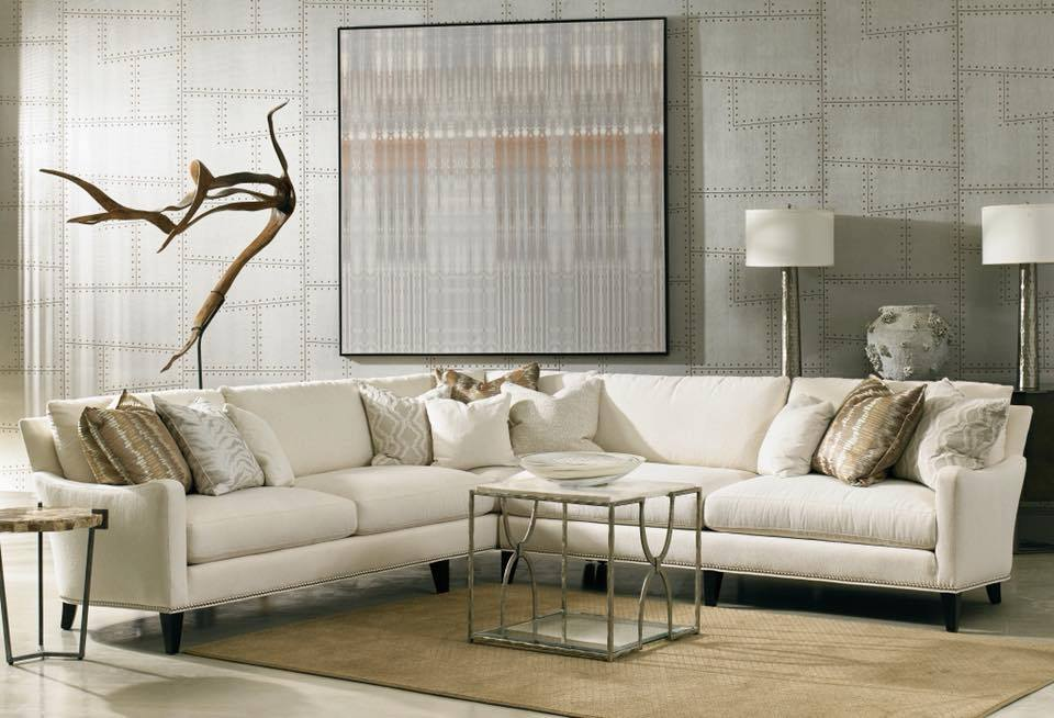 Sherrill Furniture S Dc413 Dc414 Sectional Is Great Inspiration For Winter Whites