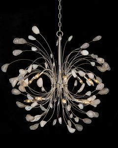 Hilton Head Furniture - Agate And Nickel Sixteen Light Chandelier