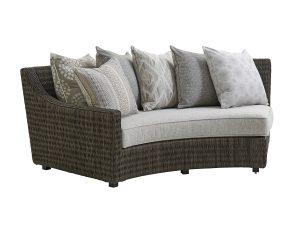 Hilton Head Furniture - Curved Sectional Laf Sofa
