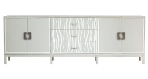 Hilton Head Furniture - Facets Two Door, Three Drawer, Two Door Credenza