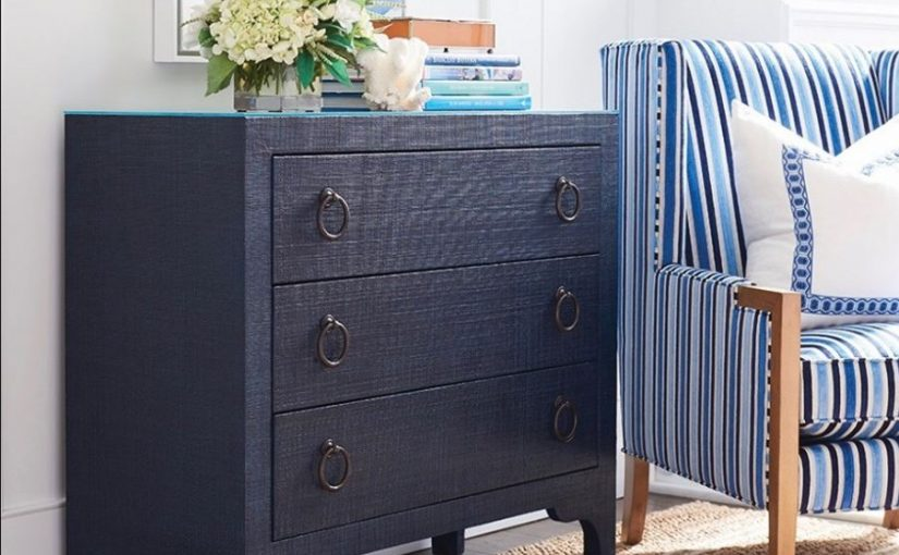 Hilton Head Furniture - The Balboa Island Raffia Hall Chest