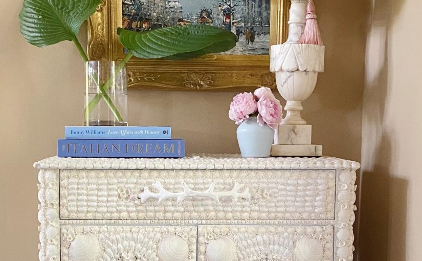 Hilton Head Furniture - The Exotic Shell Encrusted Marchmont Sideboard