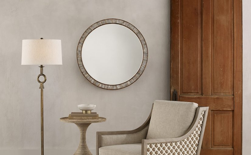 Hilton Head Furniture Store - Hyson Round Mirror  Currey & Company