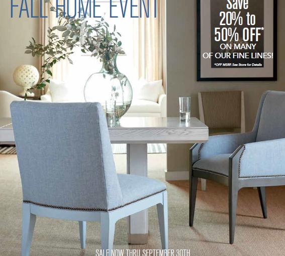 Hilton Head Furniture Store - Fall Home Event Begins September 1!
