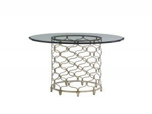 "Hilton Head Furniture Store - Lexington Laurel Canyon Bollinger Dining Table With 54"" Glass Top"