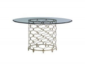 "Hilton Head Furniture Store - Lexington Laurel Canyon Bollinger Dining Table With 60"" Glass Top"