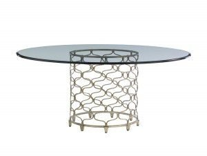 "Hilton Head Furniture Store - Lexington Laurel Canyon Bollinger Dining Table With 72"" Glass Top"