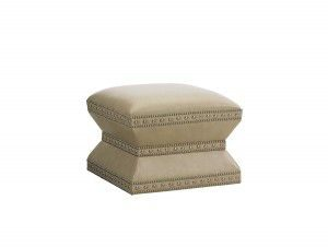 Hilton Head Furniture - From John Kilmer Fine Interiors - Wheatley-Leather-Ottoman
